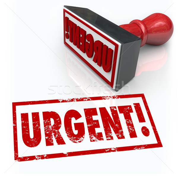 Urgent Stamp Word Immediate Emergency Action Required Stock photo © iqoncept