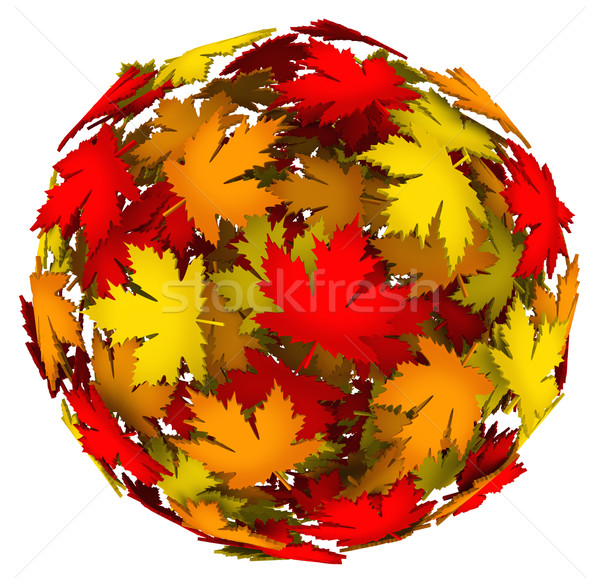 Leaves Changing Color Autumn Fall Leaf Ball Stock photo © iqoncept