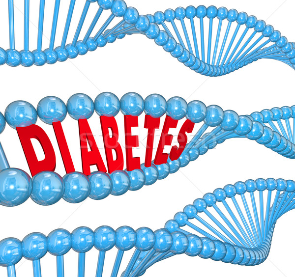 Diabetes Word DNA Strand Hereditary Blood Disease Biology  Stock photo © iqoncept