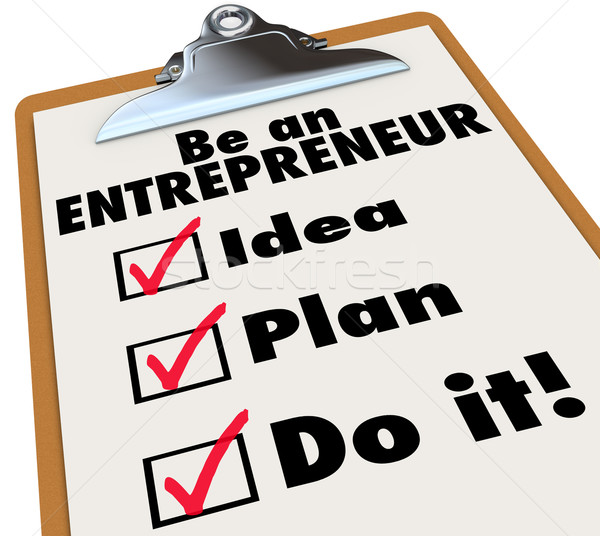 Be Entrepreneur To Do LIst Idea Plan Do It Business Ownership Stock photo © iqoncept