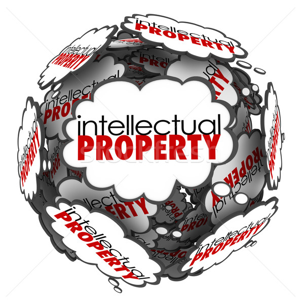 Intellectual Property Thought Clouds Creative Ideas Protected Co Stock photo © iqoncept