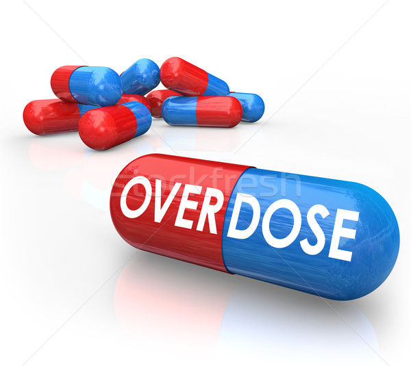 Overdose Word Pills Capsules OD Drug Addiction Stock photo © iqoncept