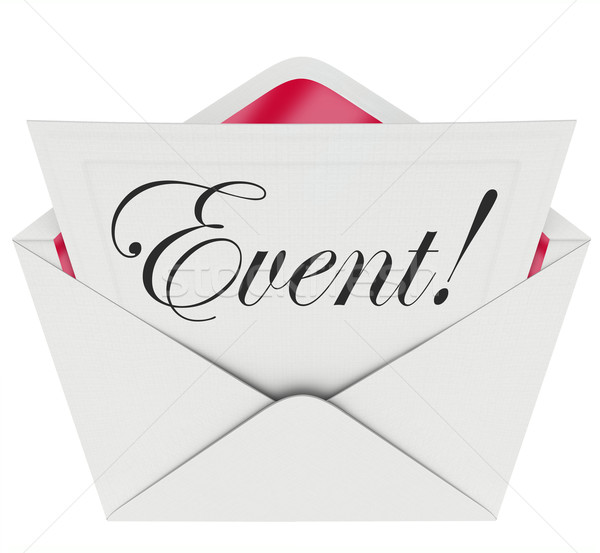 Event Word Invitation Envelope Special Access VIP Admission Stock photo © iqoncept
