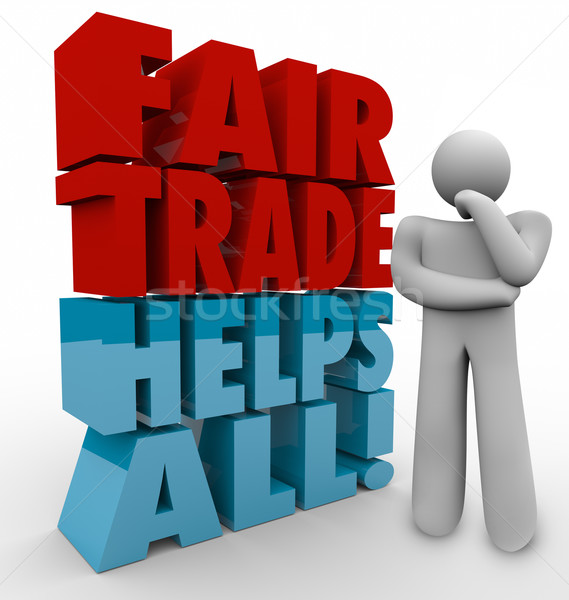Fair Trade Thinker 3d Words Planning Business Sourcing Exports I Stock photo © iqoncept