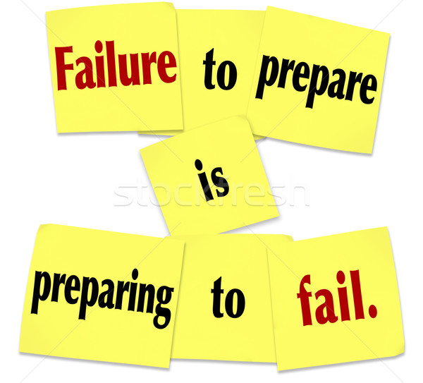 Failure to Prepare is Preparing to Fail Sticky Note Saying Stock photo © iqoncept