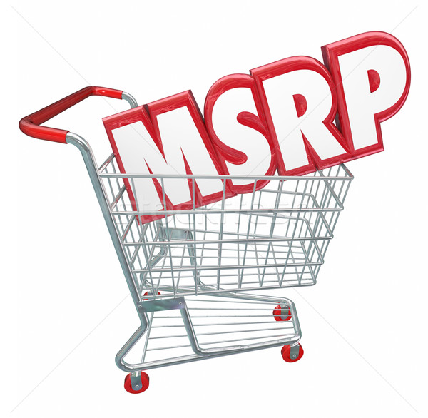 MSRP 3d Words Abbreviation Shopping Cart Manufacturers Suggested Stock photo © iqoncept
