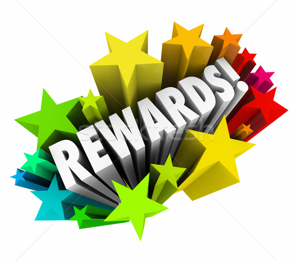 Rewards 3d Word Stars Prize Incentive Bonus Enticement Stock photo © iqoncept