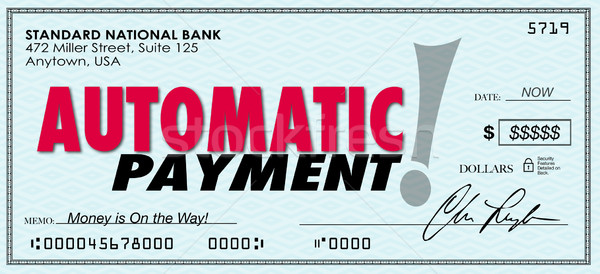 Automatic Payment Money Check Sent Software Program System Stock photo © iqoncept
