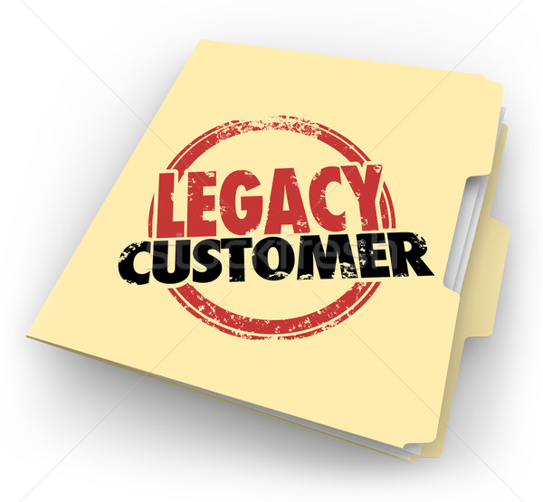 Legacy Customer Words Stamped Folder Loyal Buyer Client File Stock photo © iqoncept