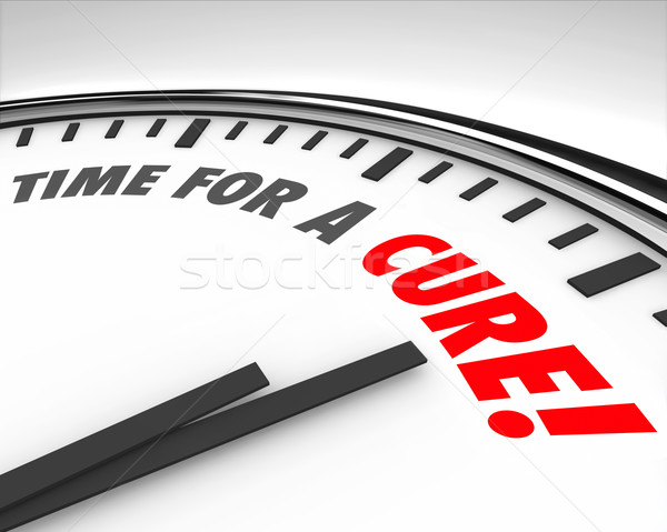 Time for a Cure Clock Prevent Disease Sickness Illness Medical R Stock photo © iqoncept