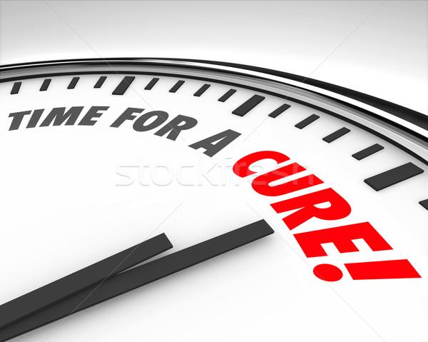 Temps guérir horloge maladie maladie maladie Photo stock © iqoncept
