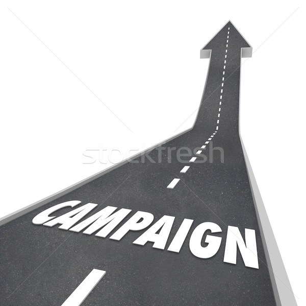 Campaign Word Road Advertising Marketing Election Win Success Stock photo © iqoncept