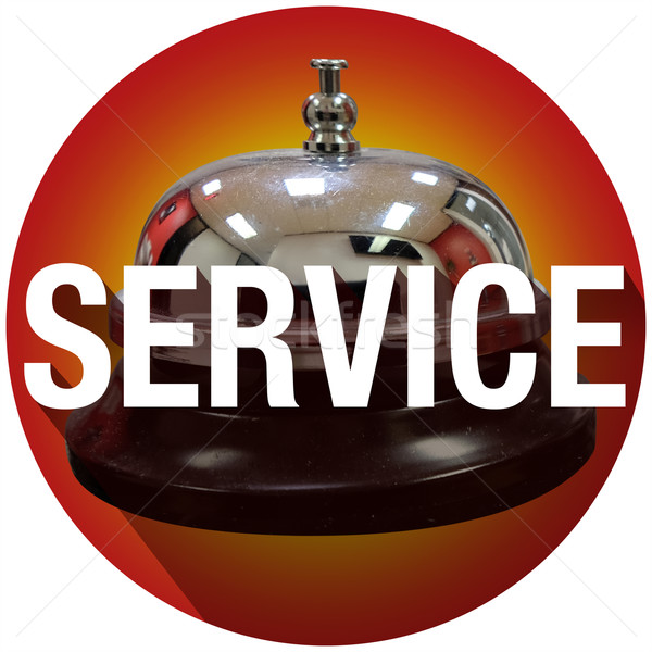 Bell Service Word Long Shadow Help Assistance Round Circle Stock photo © iqoncept