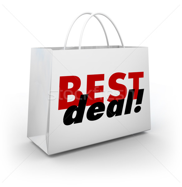 Best Deal Shoppoing Bag Discount Sale Buying Goods Products Low  Stock photo © iqoncept