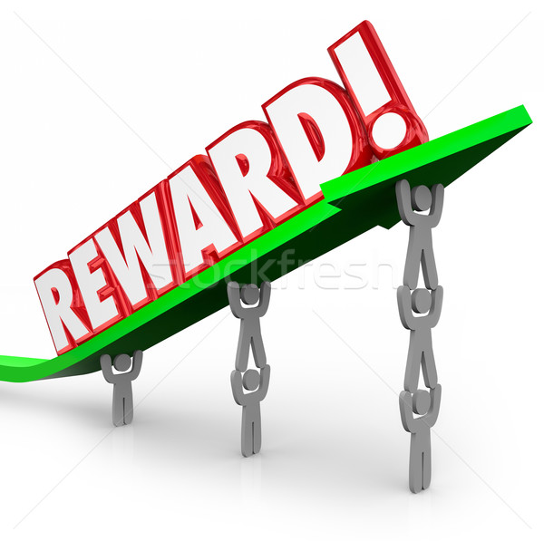 Reward Team Lifting Word Working Together Recognition Appreciati Stock photo © iqoncept