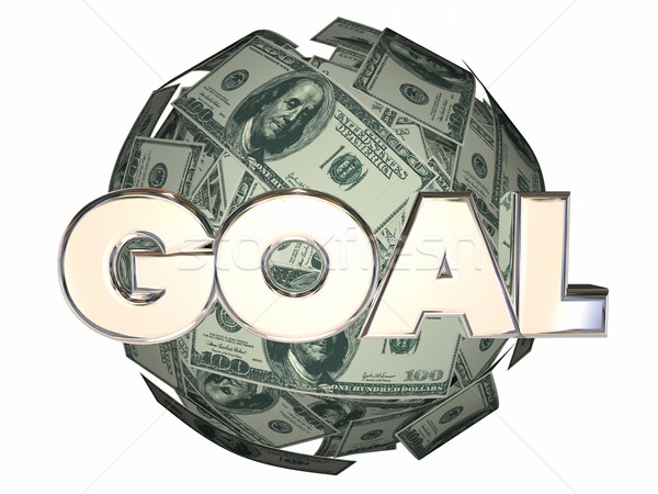 Goal Word Money Income Growth Mission Objective Stock photo © iqoncept