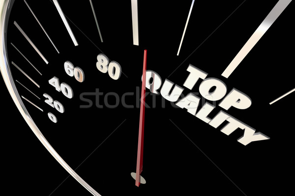 Top Quality Best Reputation Reliability Speedometer 3d Illustrat Stock photo © iqoncept