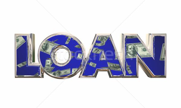 Lening geld cash hypotheek financiering 3d illustration Stockfoto © iqoncept