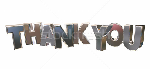 Thank You Appreciation Recognition Word Letters 3d Illustration Stock photo © iqoncept