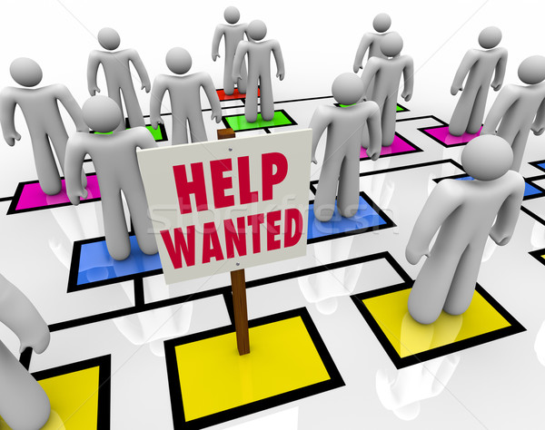 Help Wanted - Get a Job in Open Position Stock photo © iqoncept