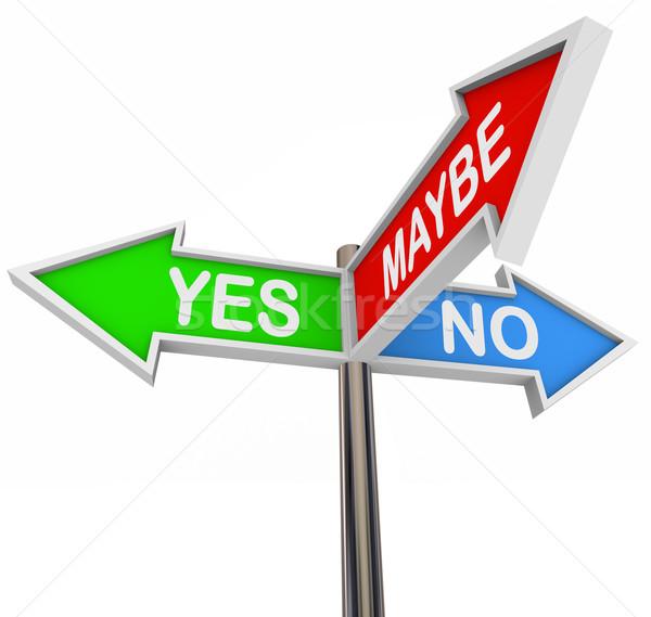Zdjęcia stock: Tak · nie · kolorowy · arrow · znaki · trzy