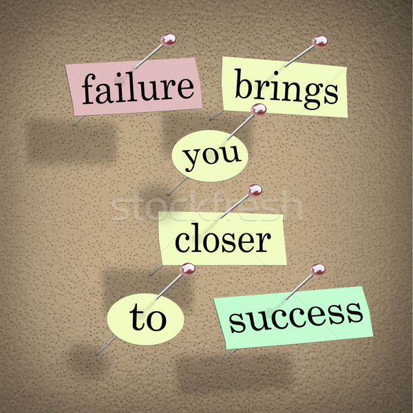Failure Brings You Closer to Success Bulletin Board Saying Stock photo © iqoncept