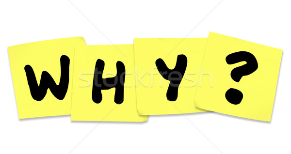 Why Word on Yellow Sticky Notes Help Mystery Stock photo © iqoncept