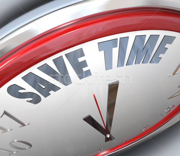 Save Time Clock Management Tips Advice Efficiency Stock photo © iqoncept
