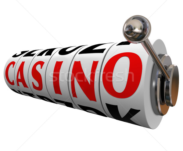 Casino Word Slot Machine Wheels Gambling Betting Stock photo © iqoncept