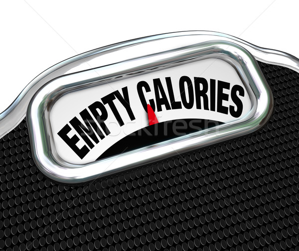 Empty Calories Word Scale Nutritional Vs Fast Food Eating Stock photo © iqoncept