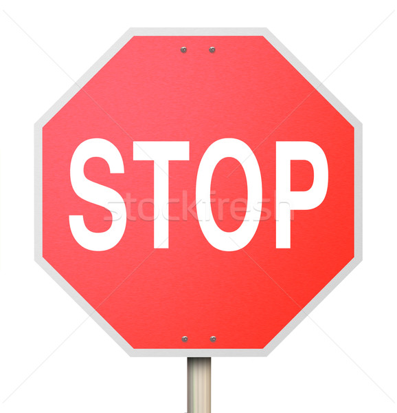 Stop Sign - Isolated Stock photo © iqoncept