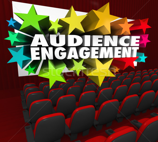 Audience Engagement Movie Theatre Entertain Crowd Participation Stock photo © iqoncept