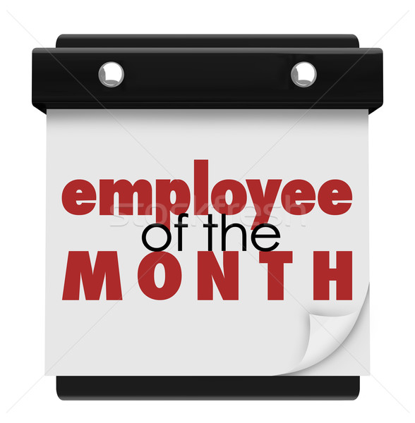 Employee of the Month Calendar Top Performing Worker Award Stock photo © iqoncept