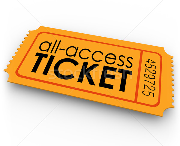 Stock photo: All Access Ticket for Rides Movie Show Concert Special Admission