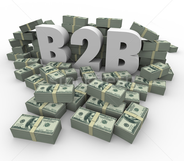 B2B Money Stacks Cash Piles Earnings Profits Business Sales Stock photo © iqoncept