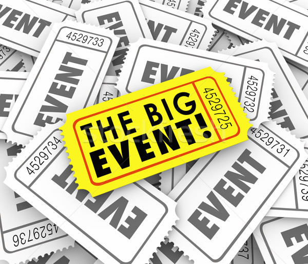 Big Event Golden Yellow Ticket Special Admission Access Stock photo © iqoncept