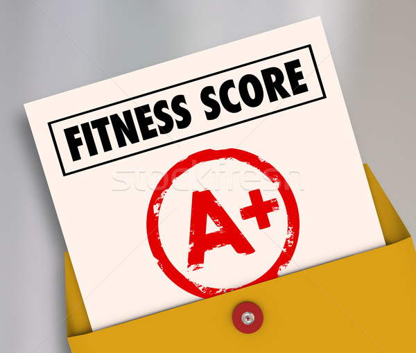 Fitness partituur top evaluatie gevolg Stockfoto © iqoncept