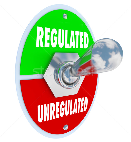 Regulated Vs Unregulated Switch Approving Laws Rules Guidelines Stock photo © iqoncept