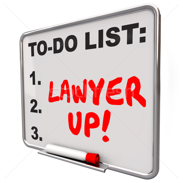 Lawyer Up To Do List Hire Attorney Legal Problem Lawsuit Stock photo © iqoncept