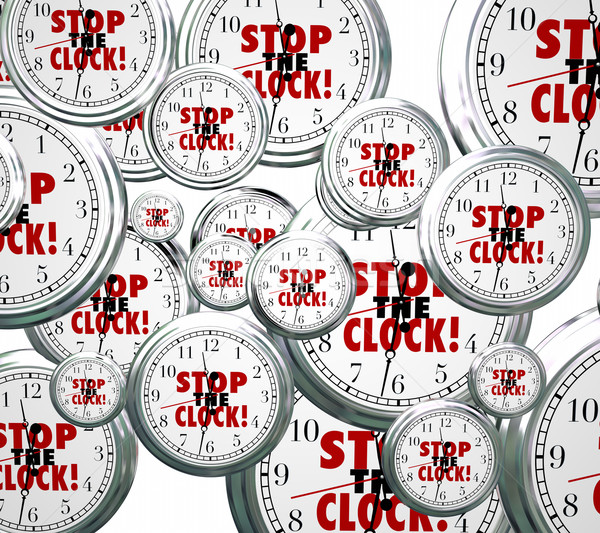 Stop the Clock Words Free Time Out Pause Break  Stock photo © iqoncept