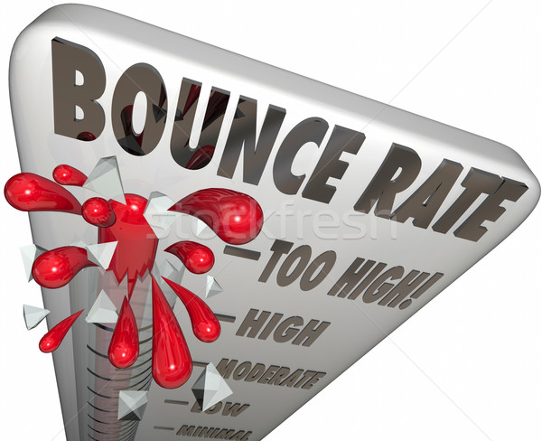 Bounce Rate Words Thermometer Measure Online Visitor Abandon Lev Stock photo © iqoncept
