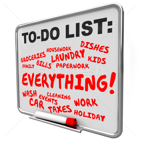 To Do List Everything Message Board Jobs Tasks Chores Stock photo © iqoncept