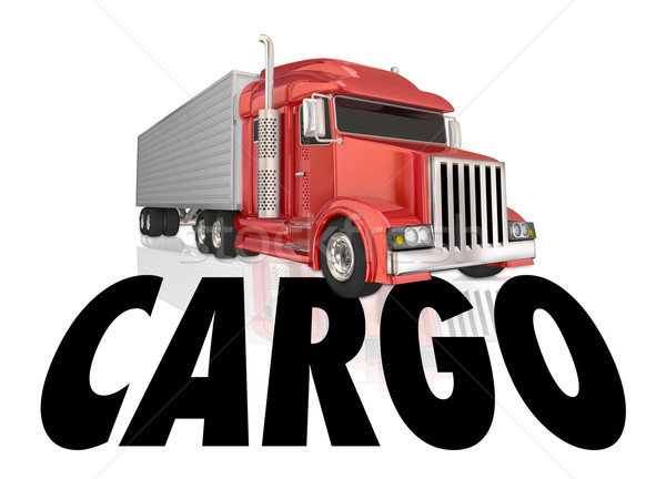 Cargo Truck Trailer Hauling Merchandise Goods Products Stock photo © iqoncept
