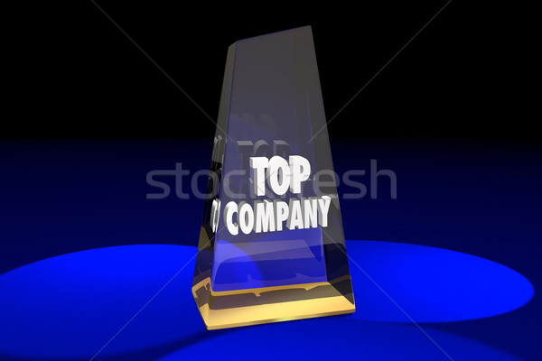 Top Company Best Business Award Words 3d Illustration Stock photo © iqoncept