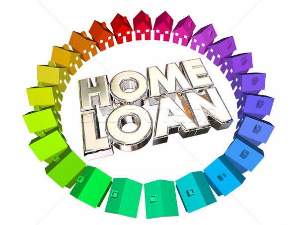 Home Loan Borrow Money Mortgage Buy House 3d Illustration Stock photo © iqoncept