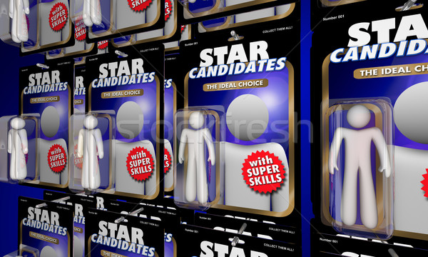 Choose Best Job Candidate Interview Many Choices Action Figures  Stock photo © iqoncept