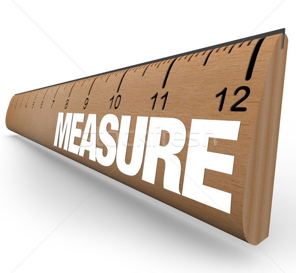 Ruler - Measure Word with Measurements on Stick Stock photo © iqoncept