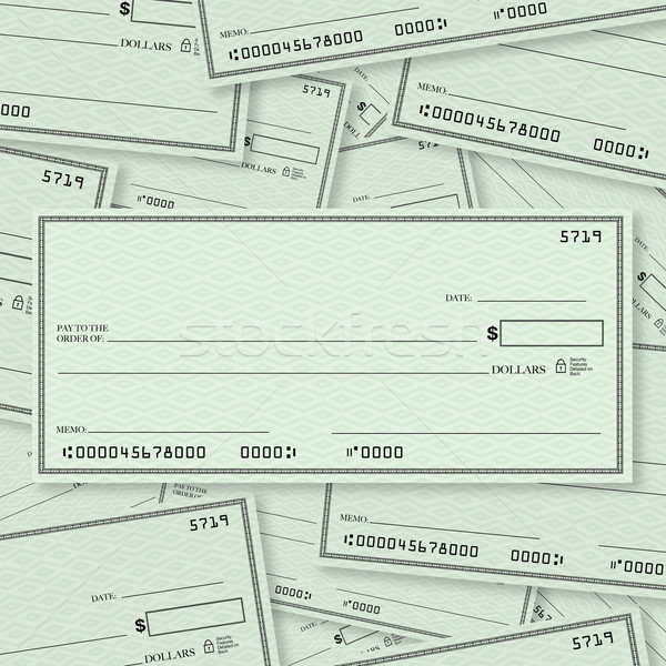 Blank Check Pile Background with Open Space for Your Text Stock photo © iqoncept