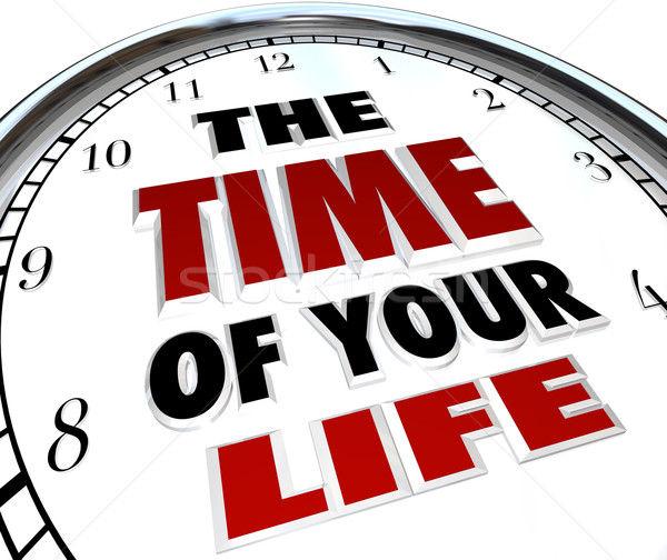 The Time of Your Life Clock Remember Good Times Memories Stock photo © iqoncept