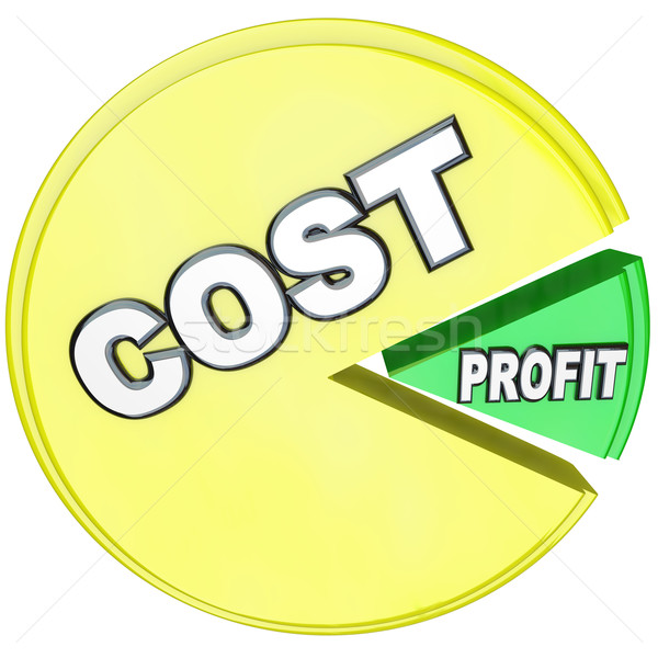 Stock photo: Costs Eating Profits Pie Chart Losing Profitability